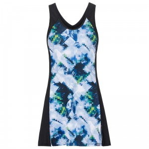 Head Fiona Dress W - sky blue/black
