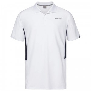 Head Club Tech Polo Shirt M - white/dark blue