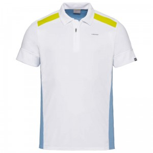 Head Golden Slam Polo Shirt M - white/skyblue