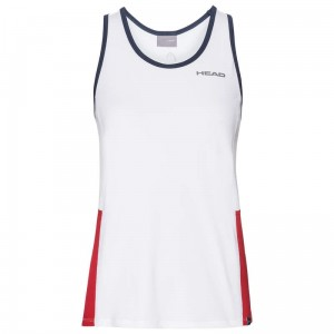 Head Club Tank Top G - white/red