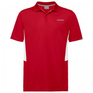 Head Club Tech Polo Shirt B - red