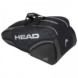 Head Djokovic 9R Supercombi - black/white