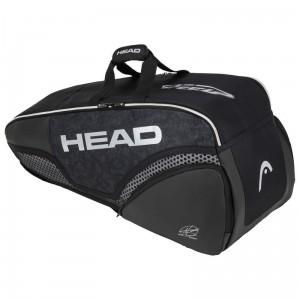 Head Djokovic 6R Combi - black/white