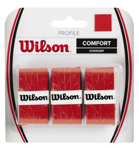 Wilson Profile Overgrip Comfort (3 szt.) - red