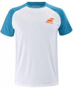 Babolat Play Crew Tee Neck Men - white/caneel bay