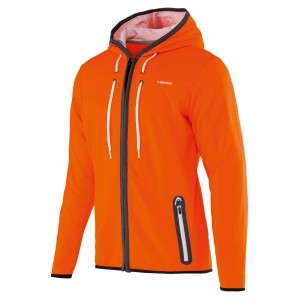 Head Amir Hoody Zip Technical - orange