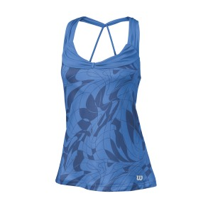 Wilson W SP Art Athletic Tank - blue