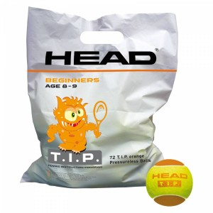 Head T.I.P. Orange Pressureless Balls (72 szt.)