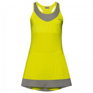 Head Demi Dress G - yellow/grey