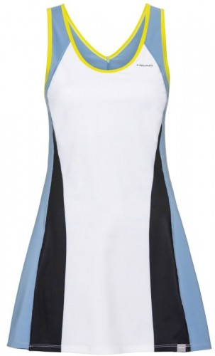 Damska sukienka tenisowa Head Fiona Dress G - white/yellow 816159-WHYW