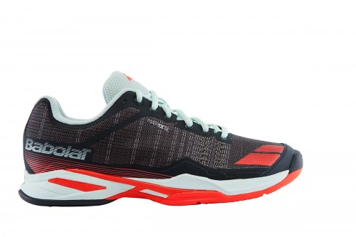 Buty tenisowe damskie Babolat Jet Team Clay Woman - grey/red/blue 31S17688-257