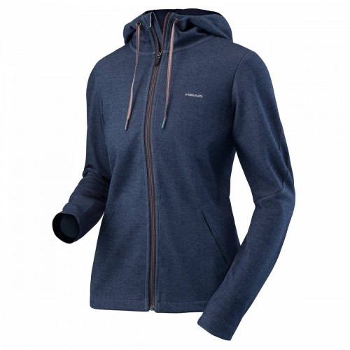 Damska bluza tenisowa z kapturem Head Transition Hoody Fz W - navy 814527-NV